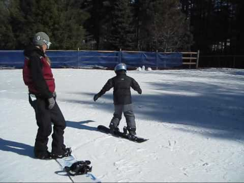 Snowboard Lesson - First Time