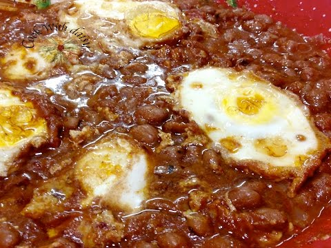 Slow-Cooked Fava Beans & Eggs