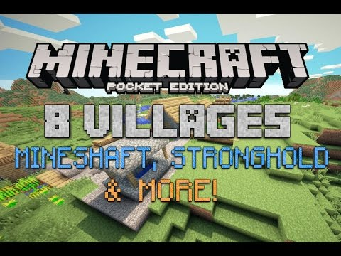 BEST MINECRAFT PE SEED EVER! 8 Villages, Mineshaft, Stronghold + More