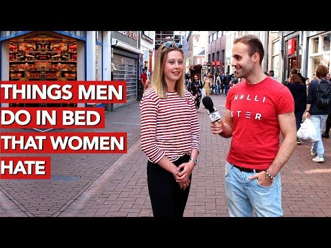 Things men do in bed that women hate!