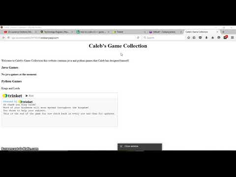 How to make a gaming website with games Intro