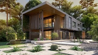3ds max exterior villa modelling and rendering