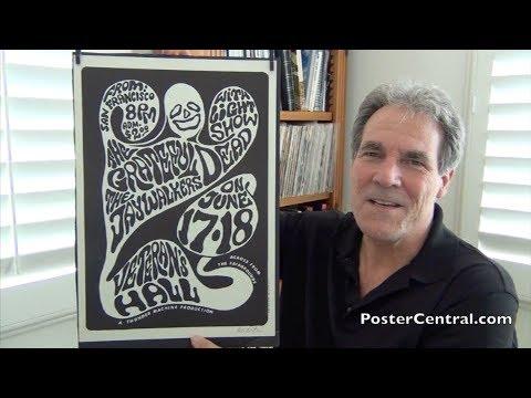 Grateful Dead 1966 Concert Poster Signed by Wes Wilson