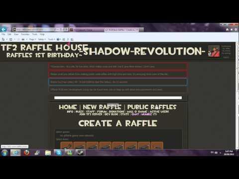 TF2R (TF2 Raffle House) Website Review/Tutorial