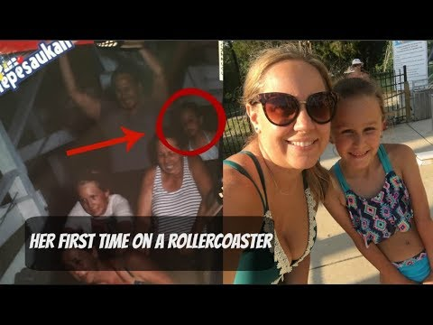 Her FIRST time | Riding the Oldest Rollercoaster | Wooden Rollercoaster