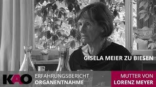 Gisela Meier zu Biesen zur Organentnahme bei ihrem Sohn. Interview Silvia Matthies