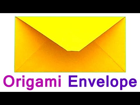 How to make the Envelope of  Paper (A4). Traditional Origami for Beginners