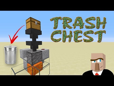REDSTONE TRASH CAN - How to Dispose of Your Minecraft Garbage!
