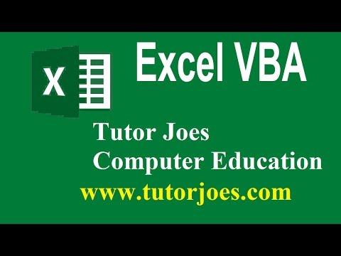 What is Macro In Microsoft Excel Using VBA In Tamil