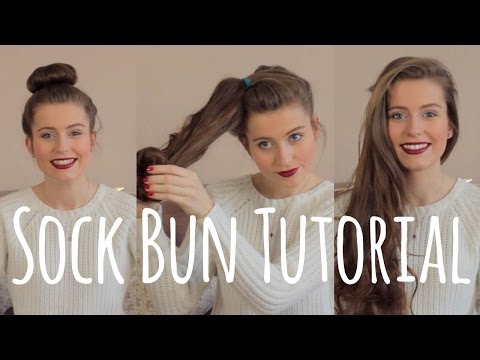 Curl your hair without heat! Sock Bun Tutorial | Ellesse