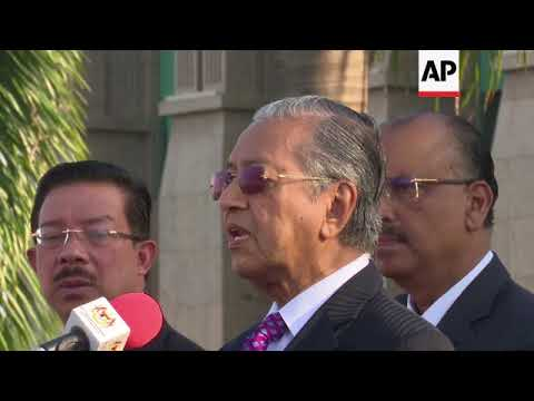 Malaysian PM gives speech on corruption ahead of Cabinet swearing in
