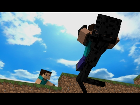 Herobrine Life Story Part 1: Herobrine And Steve - Minecraft Animation