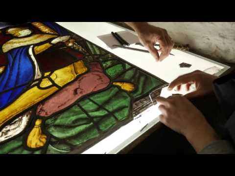 Tudor stained glass returns to The Vyne