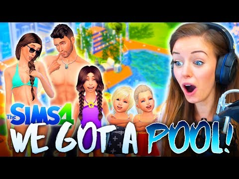 👙WE FINALLY GOT A POOL!🏊 (The Sims 4 #26! 🏡)