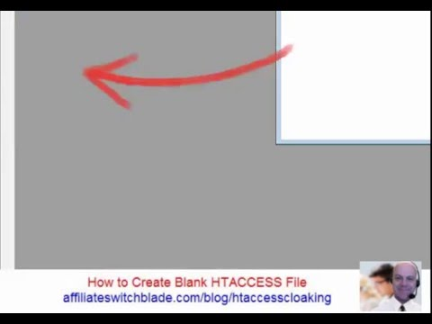 How to Create Blank ➲ HTACCESS File
