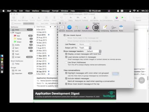 How to preview mac readin panel to the right