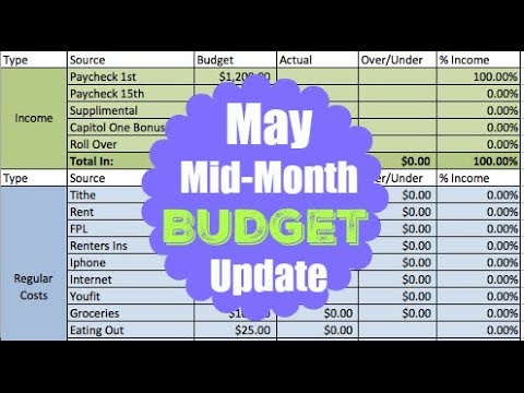 MAY 2018 MID-MONTH ZERO BASED BUDGET | Dumping Debt Fridays | Dave Ramsey Inspired