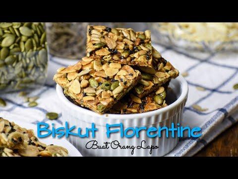Biskut Florentine | Crunchy Caramel Almond Cookies - Resepi Biskut Raya
