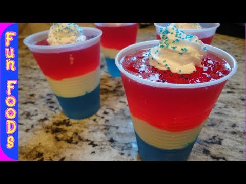How to Make Red/White/Blue Jello Cups