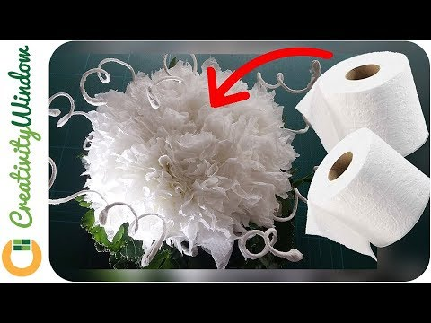 From Toilet Paper to a Beautiful White Flower