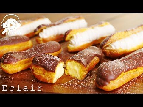 【ASMR・NoBGM】How to make Eclair ~ エクレアの作り方【料理レシピはParty Kitchen🎉】