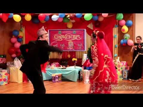 Mohani lagla hai@ Wedding in Akron Ohio Dance By (बेहुला-बेहुली)