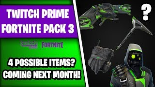 new leaked fortnite twitch prime pack 3 4 free items showcase - fortnite twitch prime paket 3