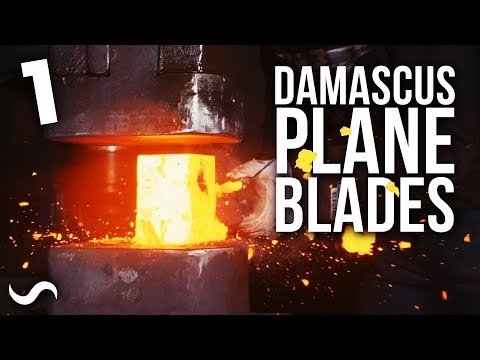 DAMASCUS HAND PLANE BLADES!! Part 1:  Dustin Penner Collab!