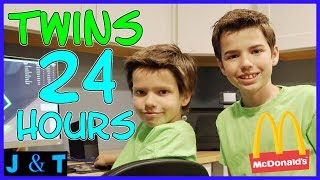 24 Hours Twins For A Day / Jake and Ty