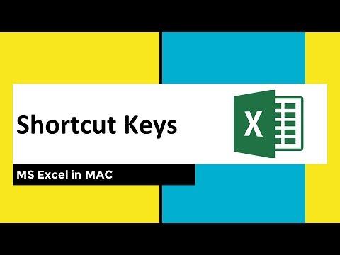Shortcut Keys for Excel in MAC