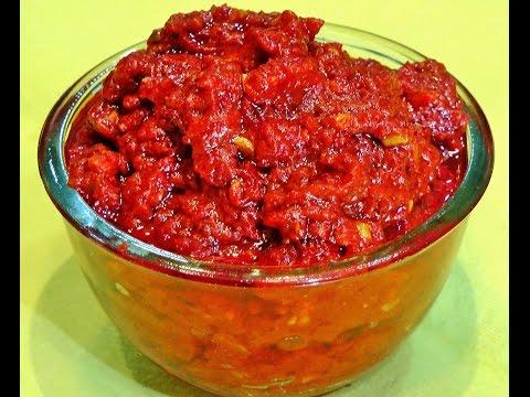 Schezwan Sauce Recipe | Homemade Schezwan Sauce | Chinese Sauce | madhurasrecipe