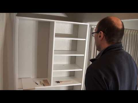 DIY Coat/Shoe closet. Melamine White Shelf Board