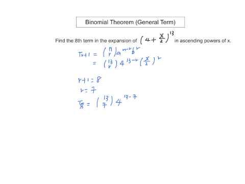 Binomial Theorem (General Term)