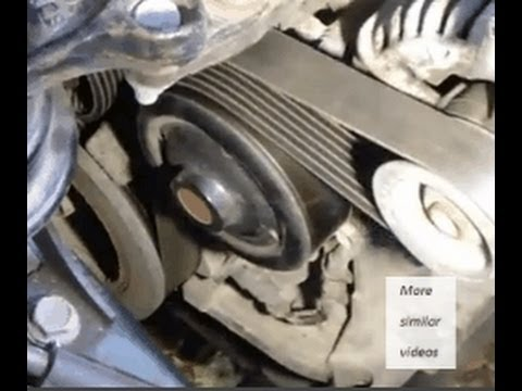 How to replace drive belt or serpentine belt Toyota Corolla. VVT-i engine. Years 2000-2009.
