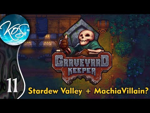 Graveyard Keeper Ep 11: SAWING & PRAYING - (Alpha) First Look - Let's Play, Gameplay