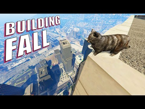 GTA V - Can Cats Survive Building Fall?