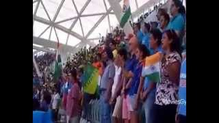 Every Indian Must Watch - 55,000 People Singing Indian Anthem - India vs Pakistan - World Cup 2015
