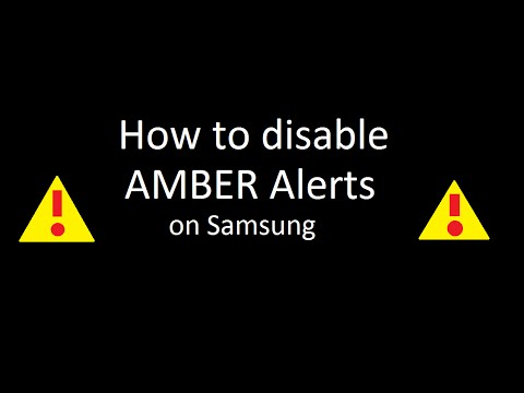 How 2 Disable AMBER Alerts on Samsung