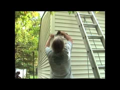 Atlantic Drain ~ Howto INSTALL new GUTTERS ~ phase 4 ~ Installing new Downspout