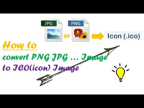 How to convert jpg and png image to ico(icon) image.