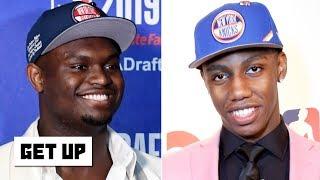 Which rookie is under the most pressure? Jalen says Zion, Greenberg picks RJ Barrett   Get Up