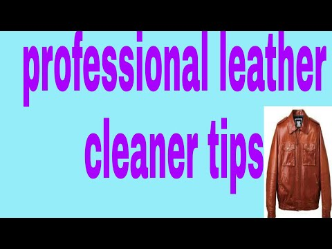 How to care leather cloths. Professional lather cleaner tips.