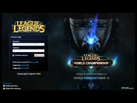 League of Legends S2 World Championship Login screen+music