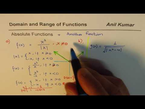 Domain and Range of Absolute Function Combinations