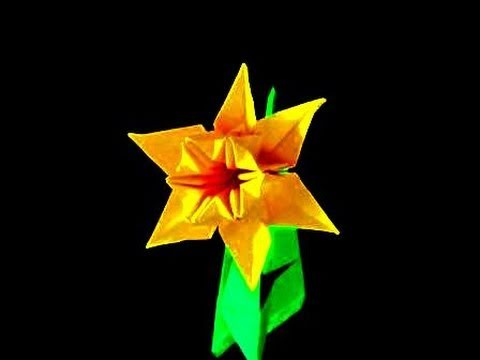 How to make an Origami Daffodil