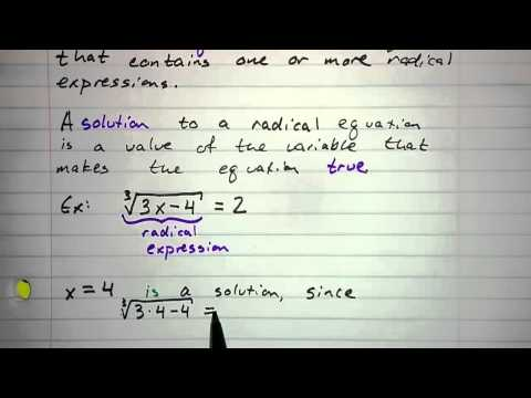 5.6.1 - Solutions to Radical Equations