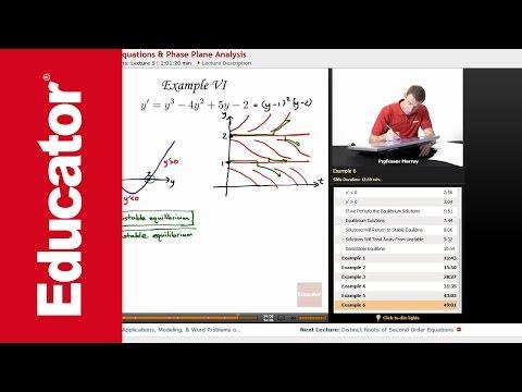 Differential Equations: Autonomous Equations & Phase Plane Analysis