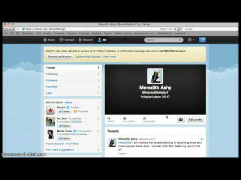 My Screencast: How to change your profile picture on twitter