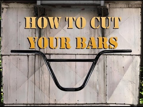 How To Cut Your BMX Bars Tutorial @ Harvester Bikes