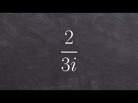 Algebra 2 - Learn how to simplify the quotient of imaginary numbers, 2/3i
